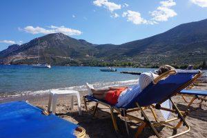 řecko, moře, Epidauros, dovolená, plachetnice