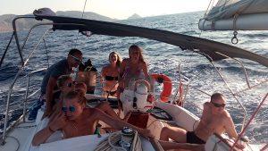 dovolená, plachetnice, moře, plavba lodí, Řecko, koupání a potápění,