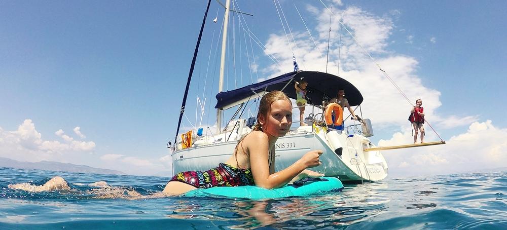 dovolená, dovolená na plachetnici, dovolená na lodi, dovolená v Řecku, dovolená na jachtě, Řecko, Řeckona plachetnici, moře,